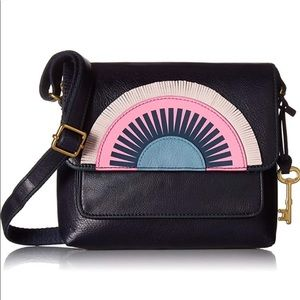 NWT Fossil Kinley Midnight Navy Sunset Leather